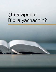¿Imatapunin Biblia yachachin?