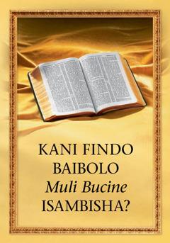 Kani findo Baibolo Itusambisha