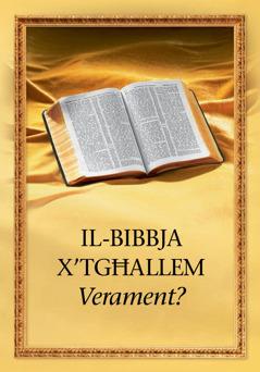 Il-Bibbja x'tgħallem verament?