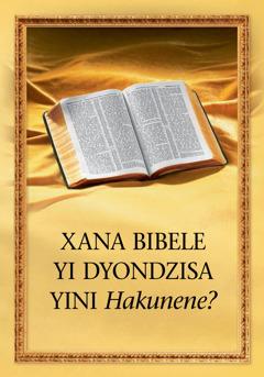 Xana Bibele Yi Dyondzisa Yini Hakunene?