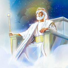 The Messianic King, Jesus Christ, sits on his throne holding a scepter
