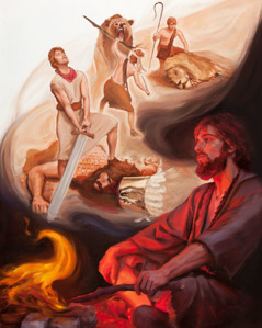 David remembers how Jehovah saved him from a lion, helped him kill a bear, and supported him when he killed Goliath