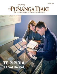 Te Punanga Tiaki Nu. 4 2016 | Te Pipiria—Ka Vai ua Rai