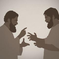 Twee mannen uit de eerste eeuw maken ruzie