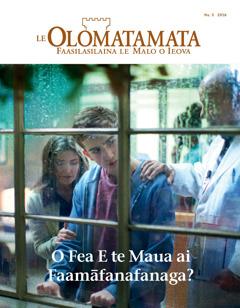Le Olomatamata Nu. 5 2016   O Fea E te Maua ai Faamāfanafanaga?