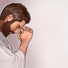 Egy ókori férfi imádkozik
