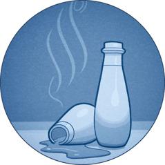 Bottles of fragrance