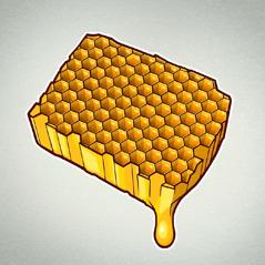 Saće iz kog curi med