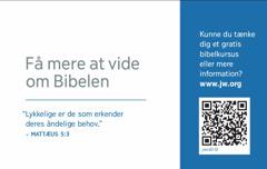 Bagsiden af et visitkort til jw.org