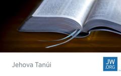 Egy jw.org-os kártyán egy nyitott Biblia látható