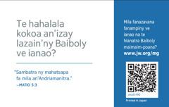 Ny ao ambadiky ny karatra jw.org