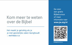 De achterkant van een contactkaartje voor jw.org