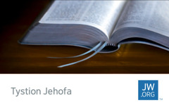 Cerdyn cyswllt jw.org yn dangos Beibl agored