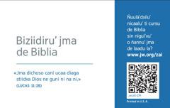 Deche ti tarjeta de contactu sti' jw.org