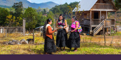 Sisters preach to a woman in the Tzotzil language in Chiapas, Mexico