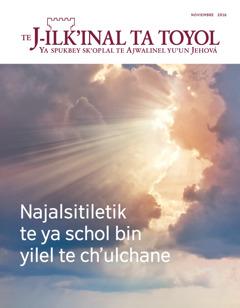 TeJ-ilk'inal ta toyol noviembre 2016 | Najalsitiletik te ya schol bin yilel te ch'ulchane