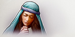 A woman prays