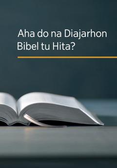 Aha do na Diajarhon Bibel tu Hita?