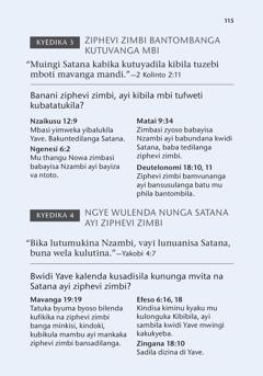 Malongi mankinza madi mu kadika kapu Mbi Kibibila Kitulonga