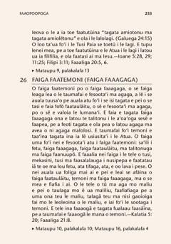 Faaopoopoga o le tusi Aʻoaʻoga Mai le Tusi Paia