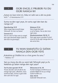 "A pisi di nen ""San wi leri"" na ini a buku San Bijbel kan leri wi?"