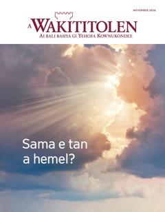 A Wakititolen fu november 2016 | Sama e tan a hemel?
