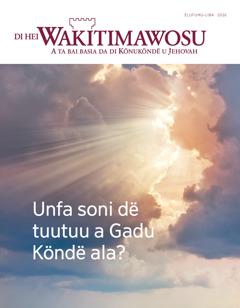 Di Hei Wakitimawosu u ëlufumu-liba u 2016   Unfa soni dë tuutuu a Gadu Köndë ala?
