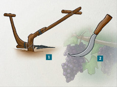 Plowshare and pruning shear