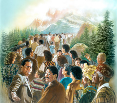 People from many nations go up to the mountain of Jehovah