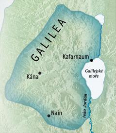 Mapa Galileje