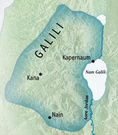 Map mar piny Galili