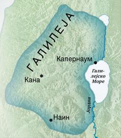 Карта од Галилеја
