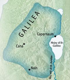 Tuˈugë mapë diˈib Galilea