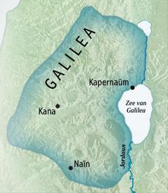 Een kaart van Galilea