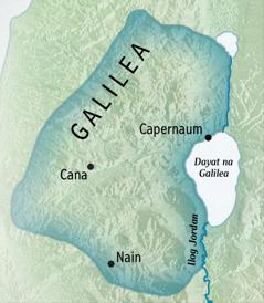 Mapa na Galilea