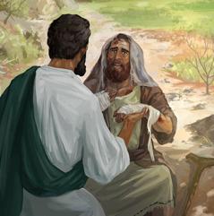 Jesus cura um homem que tem lepra