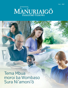 Manuriaigö No. 1 2017   Tema Mbua moroi ba Wombaso Sura Ni'amoni'ö