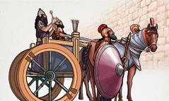 ربشاقى وجنديان خارح اسوار اورشليم