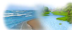 نهر غزير وأمواج البحر