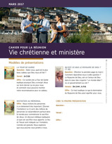 Cahier pour la réunion Vie chrétienne et ministère, mars2017