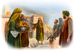 Jeremiah proclaims Jehovah's message at the gate of the temple