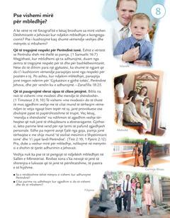 Mësimi 8 i broshurës Cilët po bëjnë vullnetin e Jehovait sot?