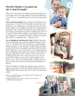Lektion 8 i brochuren Hvem gør Jehovas vilje i dag?