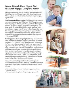 Pelajar 8 ba brosur Sapa Orang Ti Ngereja Peneka Jehovah Kemaya Hari Tu?