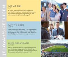 Inhoudsopgave van de brochure Wie doen nu Jehovah's wil?