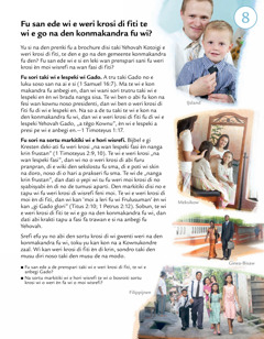 Pisi 8 fu a brochure Suma e du a wani fu Yehovah na ini a ten disi?