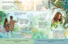 Die les oor Adam en Eva in die tuin van Eden in die brosjure Luister na God en lewe vir ewig