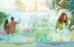 Pelajar ari brosur Dinga ka Petara pasal Adam enggau Hawa ba kebun Eden
