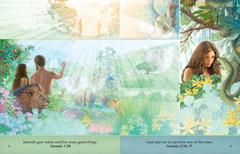 """Brošiūros """"Klausyk Dievo"""" pamoka apie Adomą ir Ievą Edeno sode"""