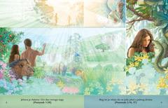 Deo iz brošure Slušajmo Boga sa ilustracijom Adama i Eve u edenskom vrtu